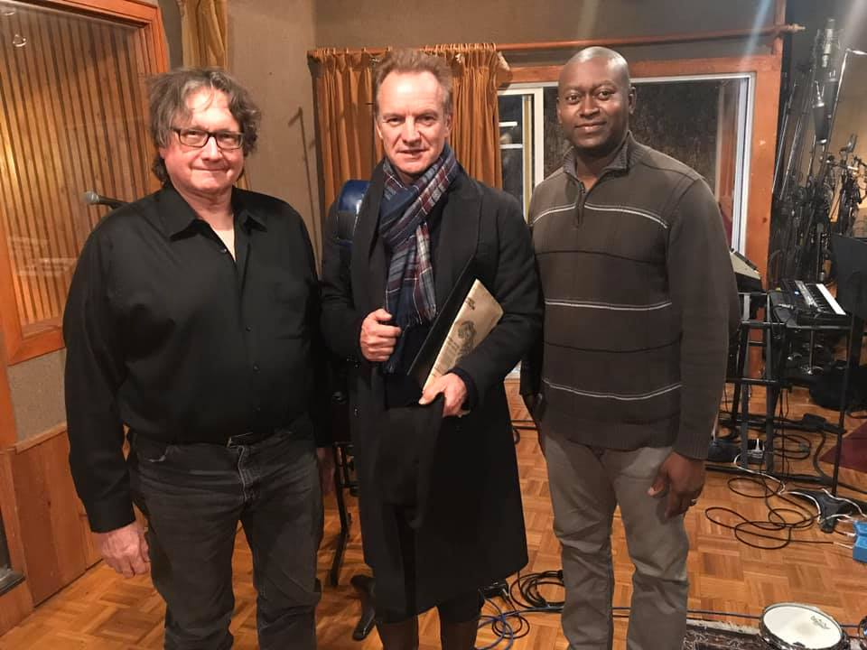 Sting & Andy Bassford from Island Head reggae musicians